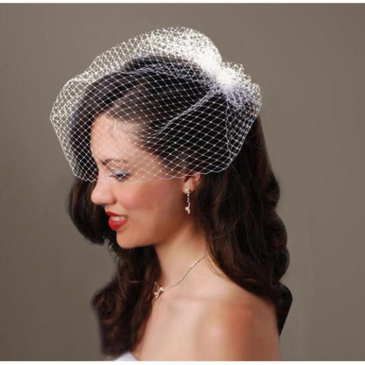 long_french_ivory_wedding_birdcage_veil_with_comb